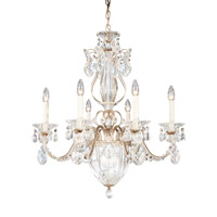 Bagatelle 7 Light 21 inch Antique Silver Chandelier Ceiling Light in Clear Heritage