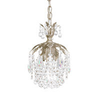 Rondelle 1 Light 6 inch Antique Silver Pendant Ceiling Light in Clear Vintage