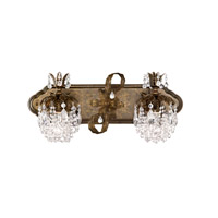 Rondelle 2 Light 8 inch Heirloom Bronze Sconce Wall Light in Clear Vintage