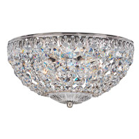Petit Crystal 4 Light 10 inch Silver Flush Mount Ceiling Light in Clear Spectra