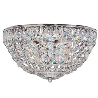 Petit Crystal 5 Light 12 inch Silver Flush Mount Ceiling Light in Clear Spectra