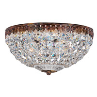 Petit Crystal 5 Light 14 inch Heirloom Bronze Flush Mount Ceiling Light in Clear Spectra
