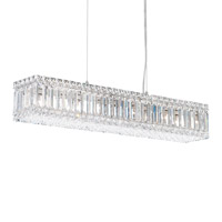 Quantum 10 Light 30 inch Stainless Steel Pendant Ceiling Light in Clear Spectra