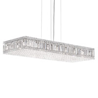 Quantum 23 Light 39 inch Stainless Steel Pendant Ceiling Light in Clear Spectra