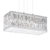 Quantum 18 Light 24 inch Stainless Steel Pendant Ceiling Light in Clear Spectra