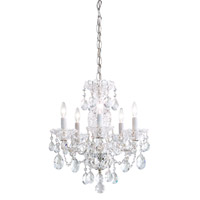 Sterling 5 Light 16 inch Silver Chandelier Ceiling Light in Clear Heritage