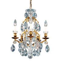 Renaissance 5 Light 15 inch Heirloom Gold Chandelier Ceiling Light in Clear Heritage