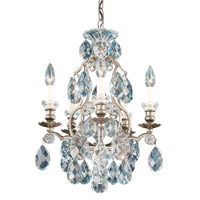 Renaissance 5 Light 15 inch Antique Silver Chandelier Ceiling Light in Clear Heritage