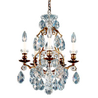 Schonbek 3769-76 Renaissance 5 Light 15 inch Heirloom Bronze Chandelier Ceiling Light in Renaissance Heritage