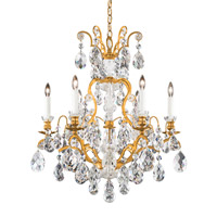Schonbek 3770-22 Renaissance 7 Light 24 inch Heirloom Gold Chandelier Ceiling Light in Clear Heritage