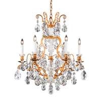 Schonbek 3770-26TK Renaissance 7 Light French Gold Chandelier Ceiling Light in Renaissance Golden Teak