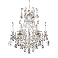 Schonbek 3770-48 Renaissance 7 Light 24 inch Antique Silver Chandelier Ceiling Light in Clear Heritage