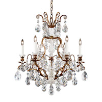 Schonbek 3770-76 Renaissance 7 Light 24 inch Heirloom Bronze Chandelier Ceiling Light in Clear Heritage