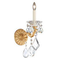 Schonbek 5000-27 La Scala 1 Light 9 inch Parchment Gold Wall Sconce Wall Light in Clear Heritage