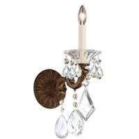 Schonbek 5000-83S Lascala 1 Light Florentine Bronze Wall Sconce Wall Light in Cast Florentine Bronze, La Scala Swarovski