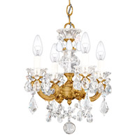 La Scala 4 Light 13 inch French Gold Chandelier Ceiling Light in Clear Heritage