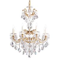 La Scala 8 Light 25 inch Parchment Gold Chandelier Ceiling Light in Clear Heritage