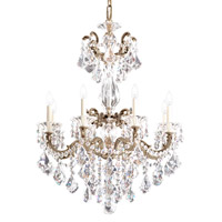 La Scala 8 Light 25 inch Antique Silver Chandelier Ceiling Light in Clear Heritage