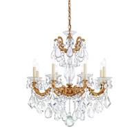 La Scala 8 Light 25 inch French Gold Chandelier Ceiling Light in Clear Heritage