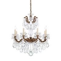 La Scala 8 Light 25 inch Heirloom Bronze Chandelier Ceiling Light in Clear Heritage