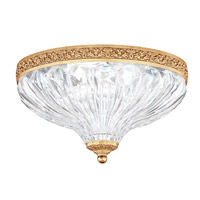 Milano 2 Light 10 inch Heirloom Gold Flush Mount Ceiling Light