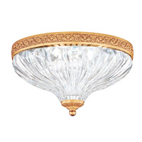 Milano 2 Light 10 inch French Gold Flush Mount Ceiling Light