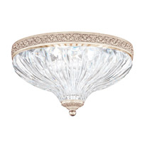 Milano 2 Light 10 inch Antique Silver Flush Mount Ceiling Light