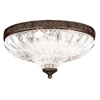 Schonbek 5631-76 Milano No Trim 3 Light 12 inch Heirloom Bronze Flush Mount Ceiling Light