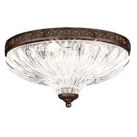 Schonbek 5631-76 Milano 3 Light 12 inch Heirloom Bronze Flush Mount Ceiling Light in Cast Heirloom Bronze