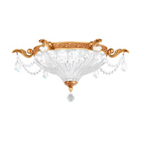 Milano 2 Light 17 inch French Gold Flush Mount Ceiling Light in Clear Optic Handcut