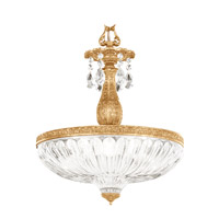 Milano 4 Light Heirloom Gold Pendant Ceiling Light in Clear Optic Handcut