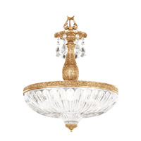 Milano 4 Light 16 inch French Gold Pendant Ceiling Light in Clear Optic Handcut