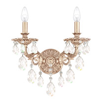 Schonbek 5642-48O Milano 2 Light 8 inch Antique Silver Wall Sconce Wall Light in Clear Optic Handcut