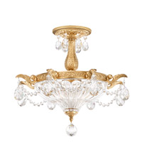 Milano 2 Light 17 inch Heirloom Gold Pendant Ceiling Light in Clear Optic Handcut