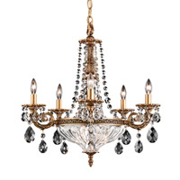 Milano 7 Light 21 inch French Gold Chandelier Ceiling Light in Clear Optic Handcut