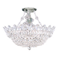 Schonbek 5796A Trilliane 8 Light 19 inch Silver Semi Flush Mount Ceiling Light in Clear Spectra