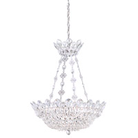 Schonbek 5798A Trilliane 8 Light 19 inch Silver Pendant Ceiling Light in Clear Spectra