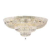 Petit Crystal Deluxe 36 Light 48 inch Aurelia Flush Mount Ceiling Light in Clear Spectra