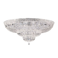 Petit Crystal Deluxe 36 Light 48 inch Silver Flush Mount Ceiling Light in Clear Spectra