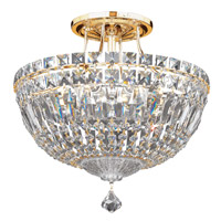 Petit Crystal Deluxe 6 Light 12 inch Aurelia Semi Flush Mount Ceiling Light in Clear Spectra