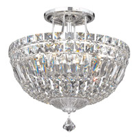 Petit Crystal Deluxe 6 Light 12 inch Silver Semi Flush Mount Ceiling Light in Clear Spectra