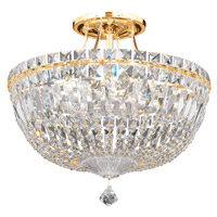Petit Crystal Deluxe 8 Light 14 inch Aurelia Semi Flush Mount Ceiling Light in Clear Spectra