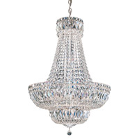 Petit Crystal Deluxe 20 Light 21 inch Silver Chandelier Ceiling Light in Clear Spectra