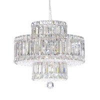 Schonbek 6671A Plaza 9 Light 15 inch Stainless Steel Pendant Ceiling Light in Clear Spectra