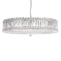 Plaza 21 Light 25 inch Stainless Steel Pendant Ceiling Light in Clear Spectra