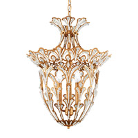 Rivendell 4 Light 15 inch French Gold Lantern Pendant Ceiling Light in Clear Spectra