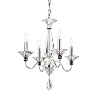 Schonbek 9674-40CL Jasmine 4 Light 16 inch Silver Chandelier Ceiling Light in Clear Vintage