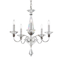 Schonbek 9675-40CL Jasmine 5 Light 20 inch Silver Chandelier Ceiling Light in Clear Vintage