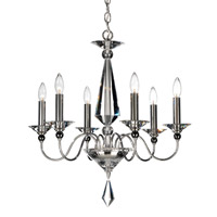 Schonbek 9676-40CL Jasmine 6 Light 23 inch Silver Chandelier Ceiling Light in Polished Silver, Clear Vintage