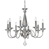 Schonbek 9678-40CL Jasmine 8 Light 30 inch Silver Chandelier Ceiling Light in Polished Silver, Clear Vintage